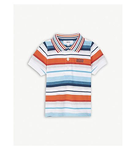 BOSS Multi-stripe cotton polo shirt 6-36 months (Multi