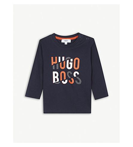 BOSS 标志长袖 T 恤 6-36 月 (蓝色
