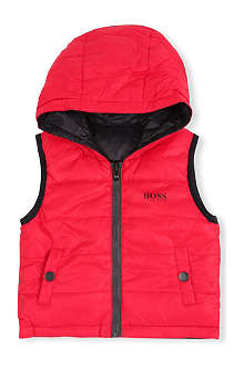 BOSS Reversible hooded gilet 6 months-3 years