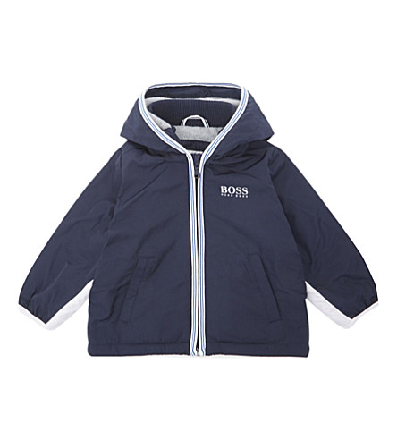 BOSS Hooded windbreaker jacket (Navy