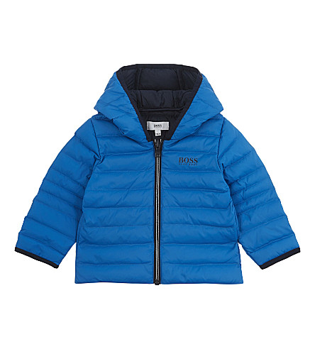 BOSS Quilted down puffer jacket 6-36 months (Blue