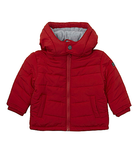 BOSS Hooded puffer jacket 6-36 months (Red