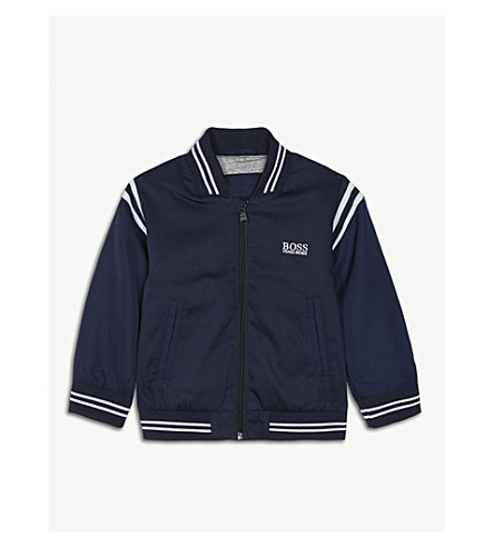 BOSS Logo bomber jacket 6-36 months (Navy