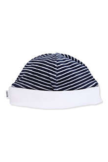 BOSS Reversible terry velvet beanie hat 0-4 years
