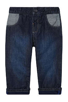 HUGO BOSS Turn-up denim trousers 1-12 months