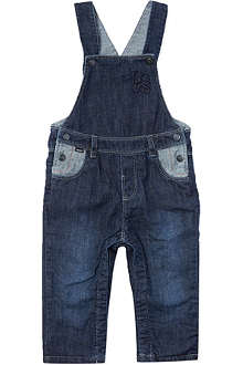 HUGO BOSS Denim logo dungarees 1-12 months