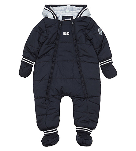 BOSS Quilted snow suit 1-18 months (Navy