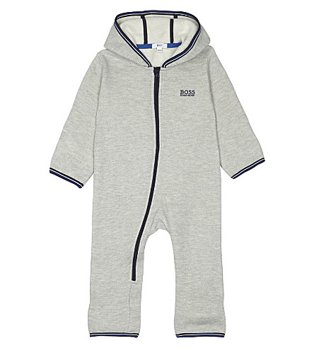 BOSS Hooded snowsuit 1-18 months (Grey