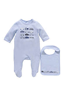HUGO BOSS Car baby-grow and bib set 1-9 months