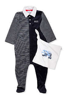 BOSS Velour sleep-suit 1-18 months