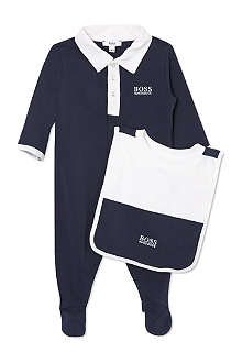 BOSS Sleepsuit and bib baby set 1-9 months