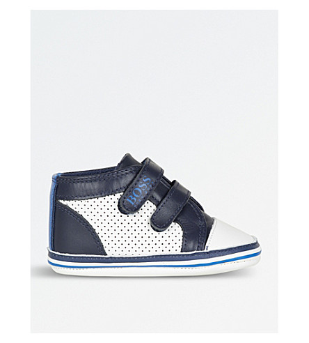 BOSS Leather trainers 3 months - 1 year (Navy