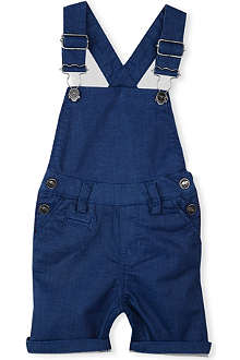LITTLE MARC Denim short dungarees 3 months-3 years