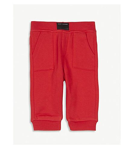 LITTLE MARC Logo patch cotton jogging bottoms 6-36 months (Red