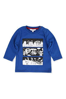 LITTLE MARC Long-sleeve ski mouse t-shirt
