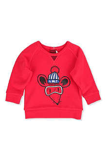 LITTLE MARC Ski mouse sweatshirt