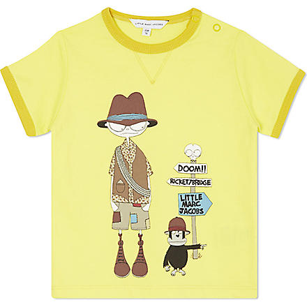 LITTLE MARC Graphic print t-shirt 3-36 months (Yellow