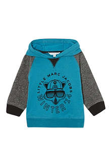 LITTLE MARC Illustrated raglan hoody 3-36 months