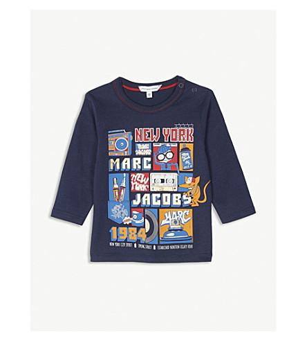 LITTLE MARC Graffiti print cotton T-shirt 6-36 months (Navy