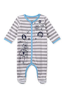 LITTLE MARC Striped deep sea diver baby-grow 1-9 months