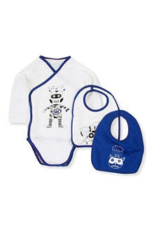 LITTLE MARC Bodysuit and bibs gift set 1-12 months