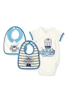 LITTLE MARC Bodysuit and bib set 1-9 months