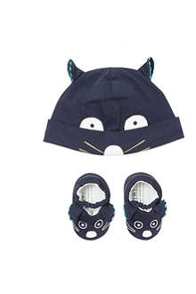 LITTLE MARC Mouse hat and slippers set 1-6 months