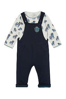 LITTLE MARC Dungarees and print t-shirt 1-18 months