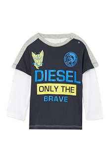 DIESEL Caution logo t-shirt 3-36 months