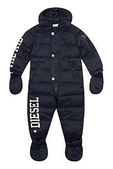 DIESEL Diesel logo feather filled snowsuit 3-18 months