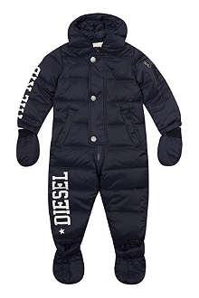 DIESEL Diesel logo feather filled snowsuit 3-18 months