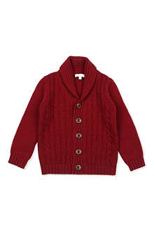 GUCCI Shawl-collar cable knit cardigan 3 months-3 years
