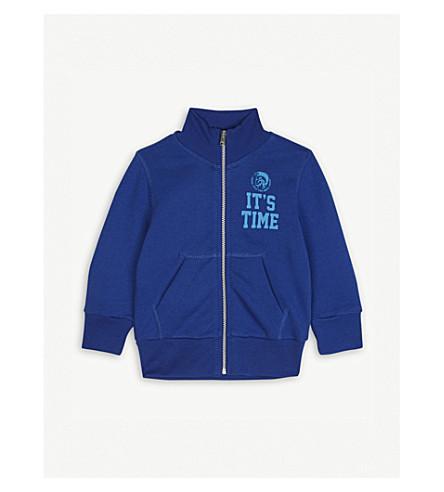 DIESEL Logo cotton jacket 6-36 months (Blue