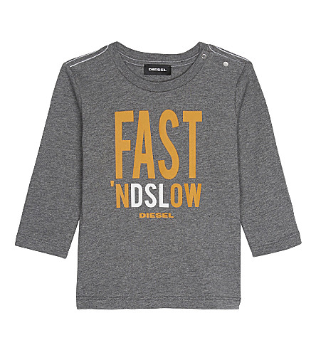 DIESEL Fast 'nd slow T-shirt 6-12 months (Grey