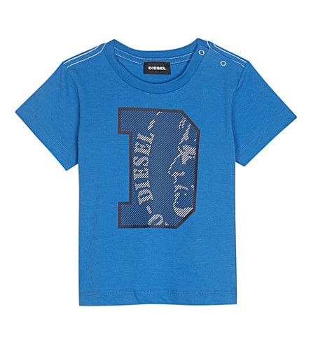 DIESEL Logo cotton T-shirt 6-24 months (Blue