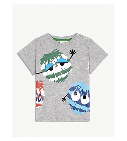 FENDI Fendirumi monster T-shirt 6-24 months (Grey