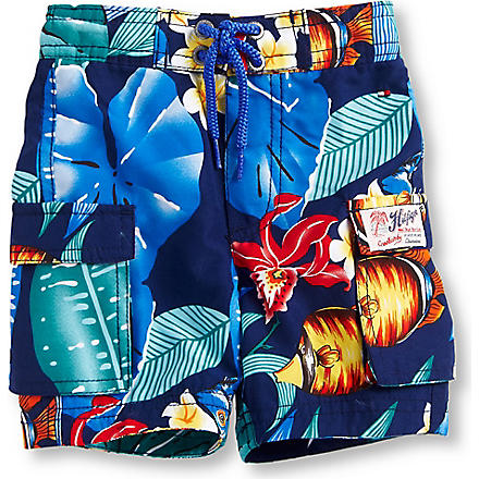 TOMMY HILFIGER Fish print swimming shorts 6-36 months (Multi