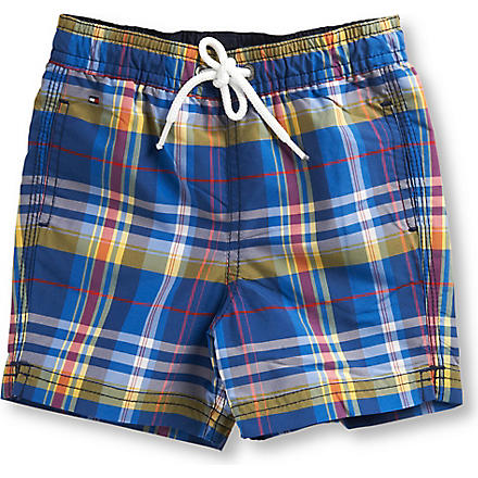 TOMMY HILFIGER Checked swimming shorts 6-36 months (Multi