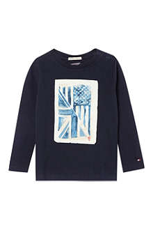 TOMMY HILFIGER Long-sleeved flag t-shirt 6-24 months