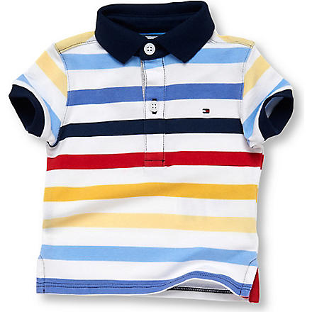TOMMY HILFIGER Stripe polo top 0-9 months (Multi