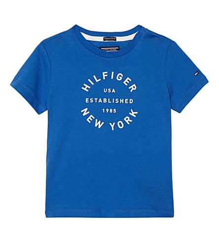 TOMMY HILFIGER Logo print T-shirt 6-36 months (Blue