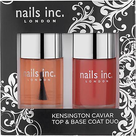 NAILS INC Kensington caviar top and base coat duo