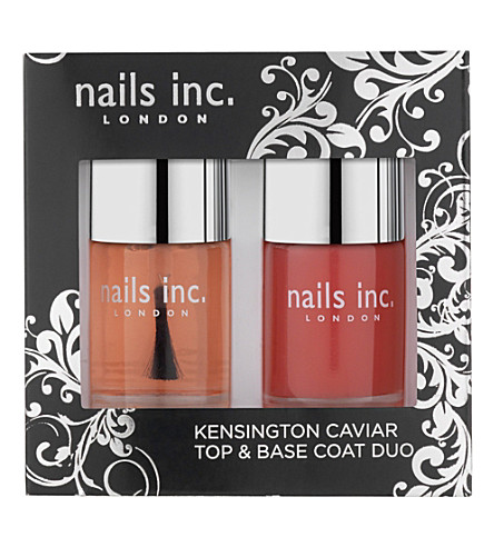 NAILS INC Kensington caviar top and base coat duo