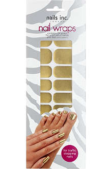 NAILS INC Solid gold nail wraps