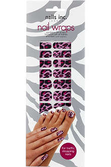 NAILS INC Pink cheetah nail wraps