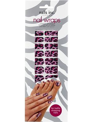 NAILS INC Pink cheetah nail wraps