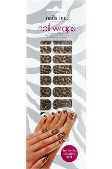 NAILS INC Leopard print gold nail wraps