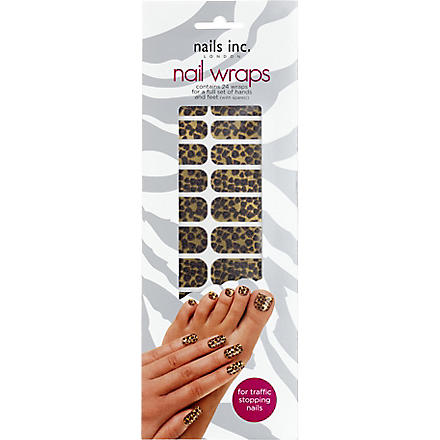 NAILS INC Leopard print gold nail wraps (Gold