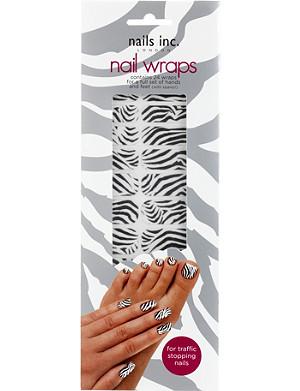 NAILS INC Black and white zebra nail wraps
