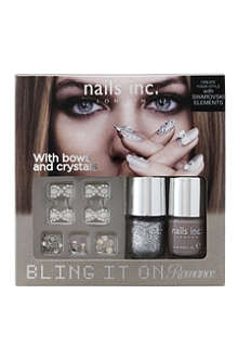 NAILS INC Bling It On Romance nail polish set
